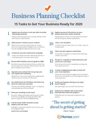 frifree 2020 Business Planning Checklist